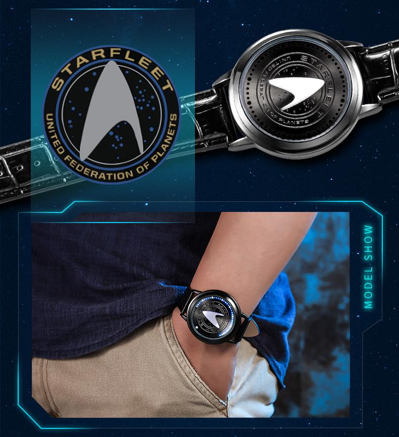 STAR TREK Models Spock Starfleet Spock LED waterproof touch screen watch hot tv series Christmas Gift 10