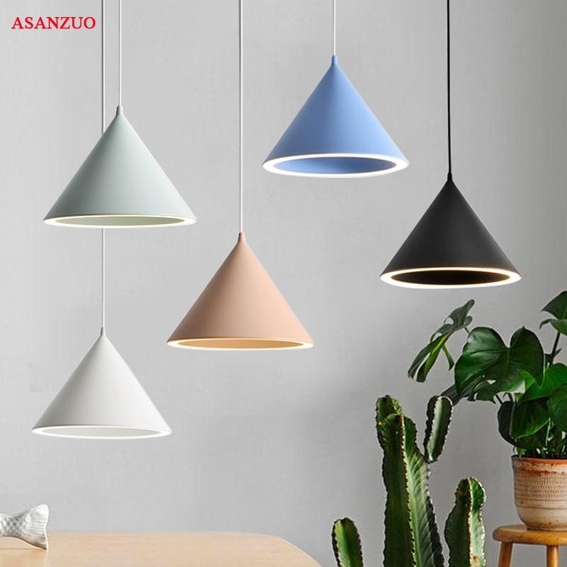 Modern Nordic Minimalist Creative Hanging Lights Macarons Pendant Light For Living Room  Restaurant Bar Lighting Fixture