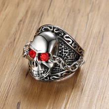 Fashion Personality Silver Color Men Punk Rings For Man Stainless Steel Shiny Rhinestones Ring Mens Jewelry Gift Male Rings fashion stainless steel silver color men spinner ring punk jewelry personality male rings size 7 8 9 10 11 12