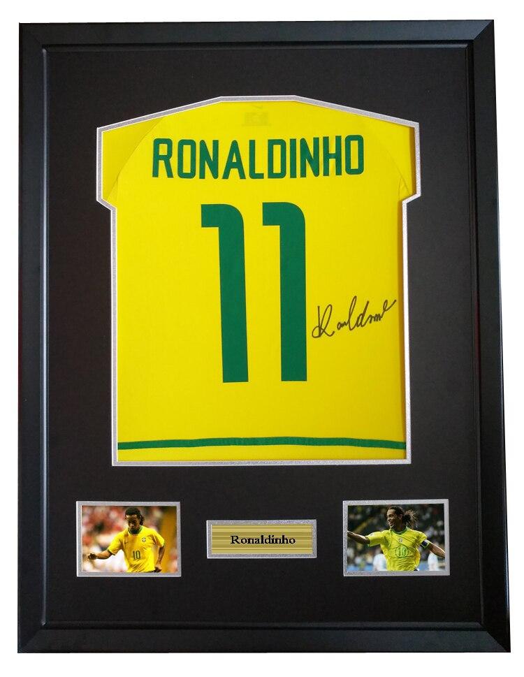 Ronaldinho signed autographed soccer shirt jersey come with Sa coa ...