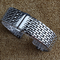 Hot Utrl-fina Pulseira de aço Inoxidável sólido links Pulseira de metal pulseira de relógio de Prata de 18mm 20mm 22mm pulseira borboleta fivela