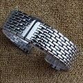 Utrl caliente delgado Correa links solid Venda de reloj de acero Inoxidable correa de reloj de metal de Plata 18mm 20mm 22mm pulsera de la mariposa de la hebilla