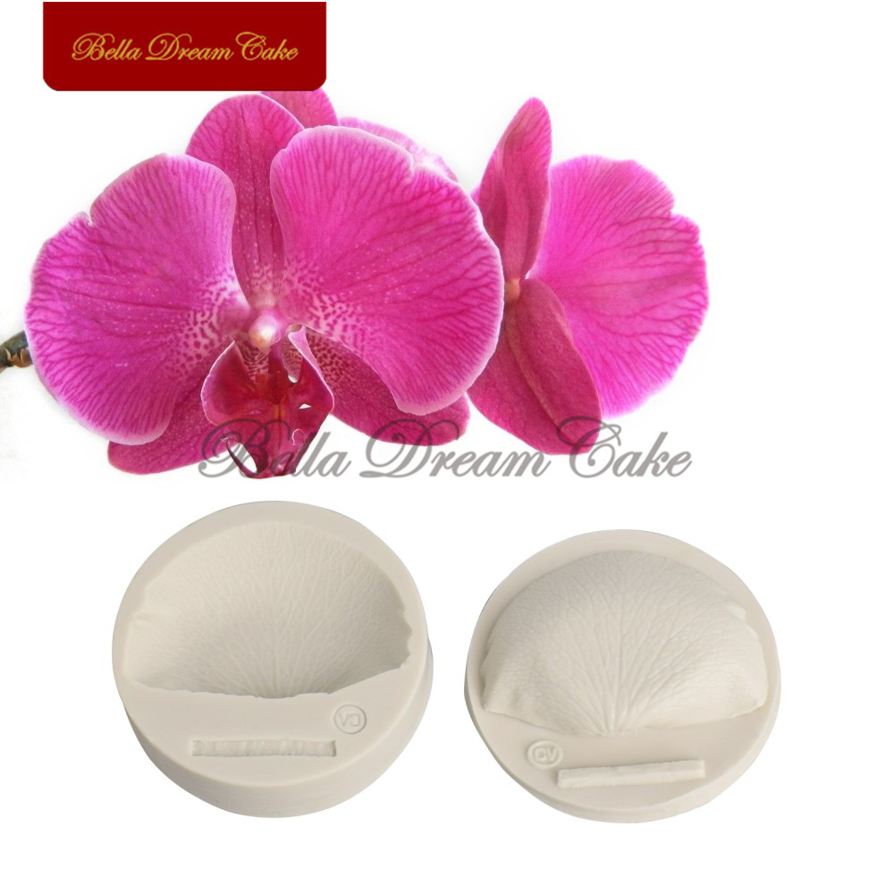 Silicone 3D Flower Leaf Orchid Petals Cake Chocolate Bakeware Mould Mold Decor