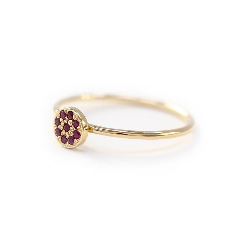 ROMAD Garnet Ring Crystal...