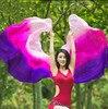 Newest Women Bellydance Gradient Color Silk Belly Dance Veils Hand Throw Scarf Shawl Dancer Accessory 260