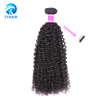 Wholesale Price Kinky Curly Vrigin Hair Extensions Human Hair Weave Peruvian 100 Human Hair 1 Pc Color 1B