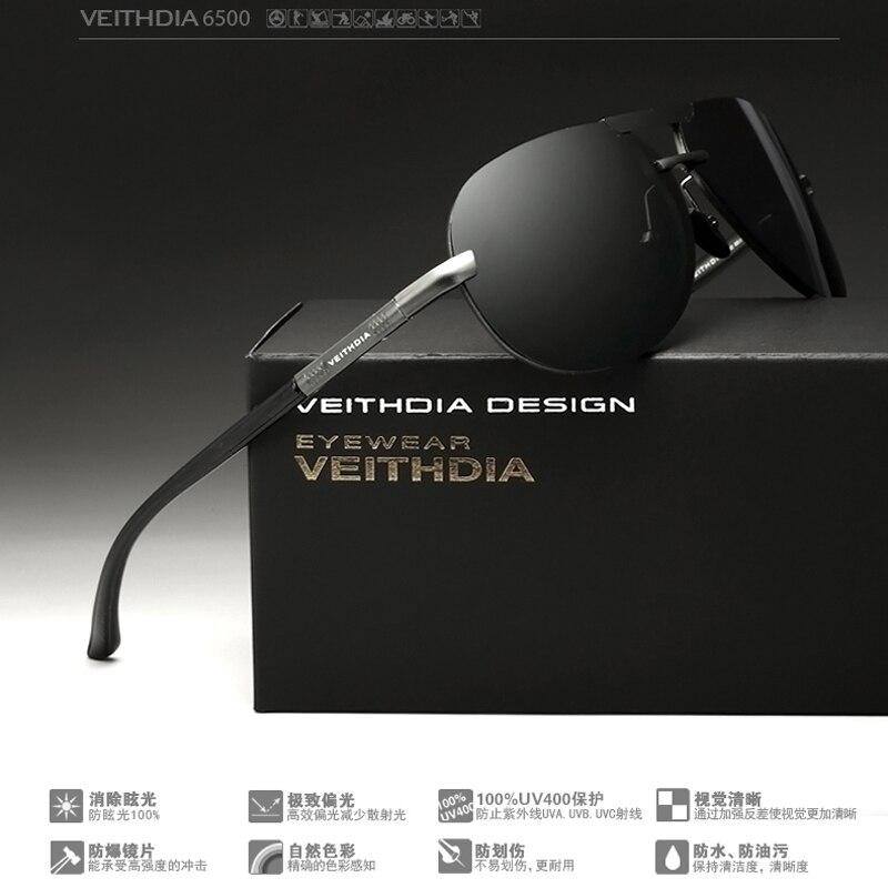 615b800d7a VEITHDIA aluminio magnesio gafas de sol lente polarizada/pesca gafas de sol  gafas para los hombres