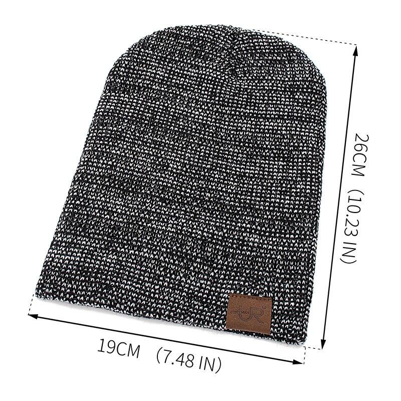 New Unisex Hat URGENTMAN Casual Beanies For Men Women Hip-hop Knitted Winter Hat Male Acrylic Crochet Ski Beanie Hat Female Cap 2