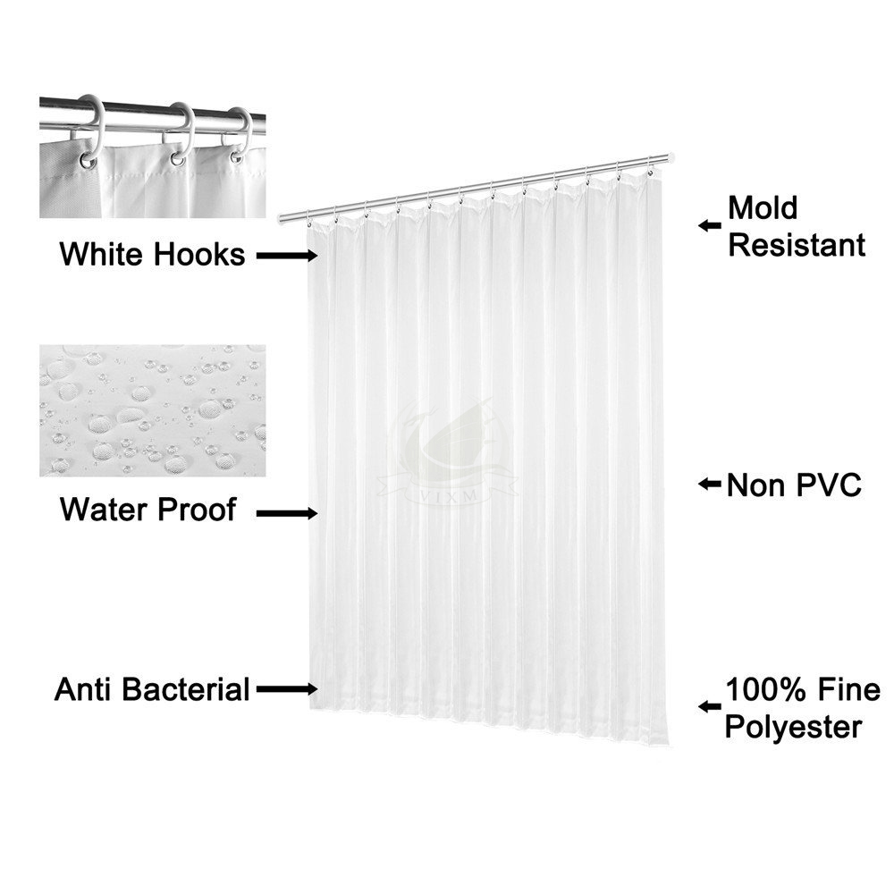 Vixm Home Custom Baltimore Ravens Bath Curtains Waterproof Fabric Shower For Decors With C Hooks 66x72 Inch In From