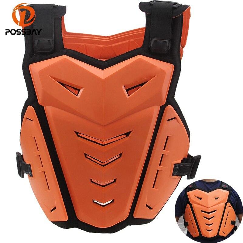 POSSBAY moto vestes Motocross poitrine dos protecteur armure gilet course protection corps-garde MX armor ATV gardes course