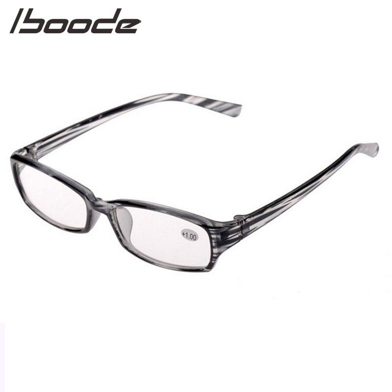 IBOODE Square Striped Reading Glasses Men Women Presbyopic Eyeglasses Female Male Hyperopia Eyewear Optics Magnifying Spectacles