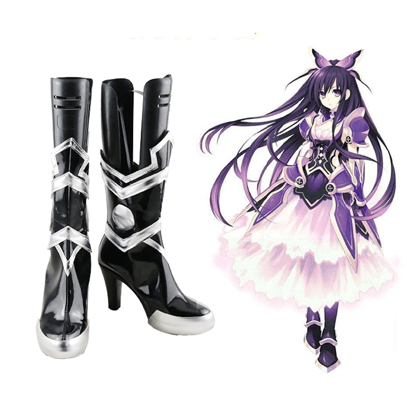 DATE A LIVE Yatogami Tohka Princess Cosplay Shoes Boots Halloween Carnival Cosplay Costume Accessories