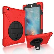 цена на For iPad 2 / 3 / 4 Shockproof Kids Protector Case For iPad2/3/4 Heavy Duty Silicone Hard Cover kickstand design Hand bracel+Gift