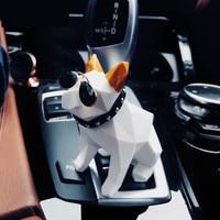 Car Ornament French Bulldog Toy Dolls Air Freshener Cute Cartoon Dashboard Decoration Dog Figure Automobiles Interior Perfume