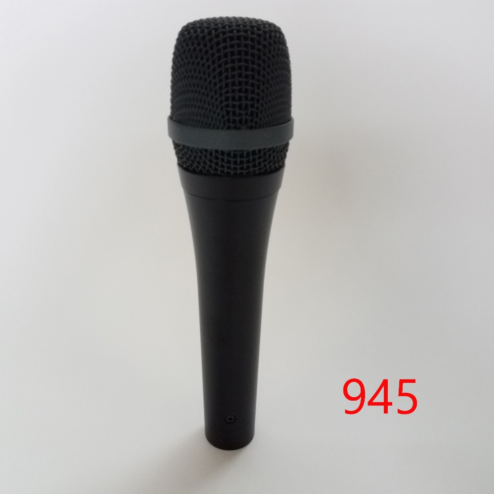 Main dynamique Supercardioïde Microphone 945 Professionnel Karaoké Système Vocal Wired Microphone Microfone Microfono Mike Mic