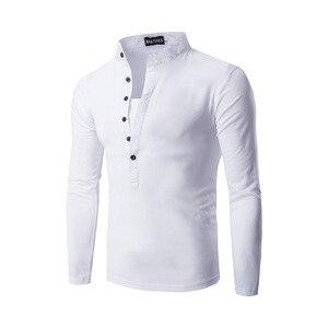 Image 5 - Polo à manches longues pour Homme, nouvelle tendance, coupe Slim pour Homme, 2016 coton, taille Xxl, décontracté