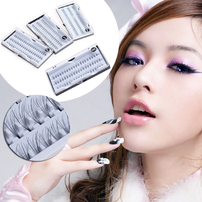 8/10/12/14mm Makeup Individual Cluster Eyelashes False Eye Lashes Extension Long High Quality