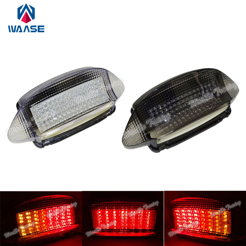 waase EMARK Motorcycle Rear Taillight Tail Brake Turn Signals Integrated Led Light Lamp For 1997 1998 HONDA CBR 600 F3 CBR600F3 waase for yamaha yzf r6 2006 2007 taillight rear tail light brake turn signals integrated led light