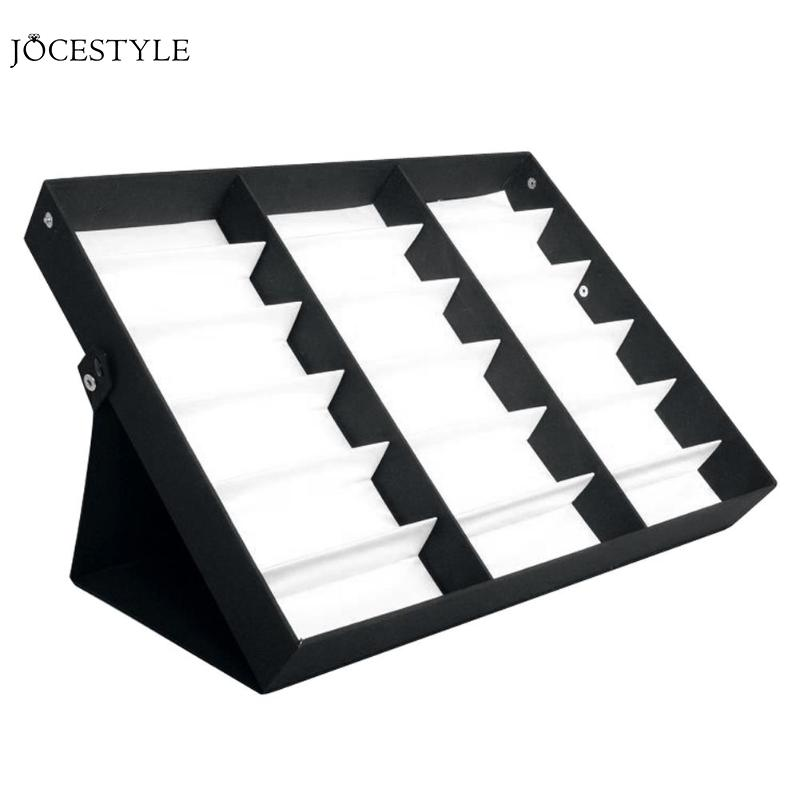 18 Grid Sunglasses Glasses Storage Box Display Stand Box Case Tray Black Sunglasses Eye Wear Display Tray Case Stand Accessories