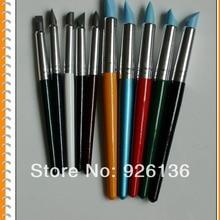 Набор из 10 цветной корсет для полимерная глиняная скульптура инструменты резиновая нарисованная кистью ручка инструменты артистическая Расчёска Размер 10 и 6