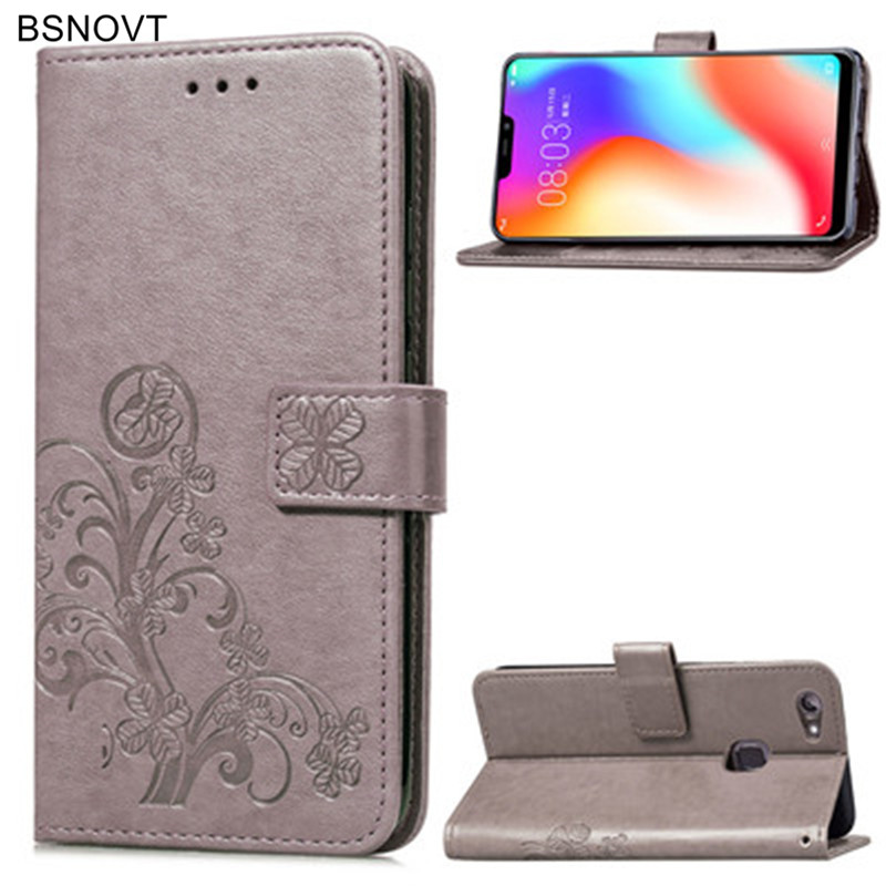 For Vivo Y83 Case Soft Silicone Leather Wallet Filp Case For Vivo Y83 Cover For Vivo Y83 Y83A Fingerprint Phone Bag Case BSNOVT