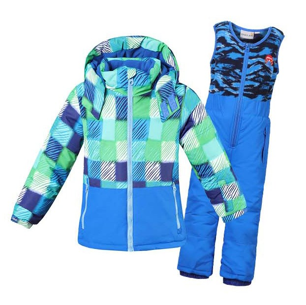 2017 Children girl boy sports outdoor ski Snow suits for 3-8y girl boy jumpsuit windproof tracksuit jacket overalls clothes
