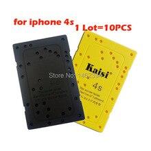 10 unids/lote placa de tornillo placa de memoria estera posición desmontar herramienta de reparación tornillo holder trabajo para iphone 4s
