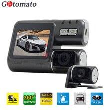 Gotomato Двойная Камера DVR i1000 Allwinner Full HD 1080 P с Двумя Объективами даш Cam Video Recorder 2 Камера Ночного Видения Автомобильный ВИДЕОРЕГИСТРАТОР Видеокамера