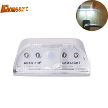 Auto PIR Door Lock Induction Lamp night led light IR Motion Sensor lamp battery powered led