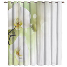 White Phalaenopsis Window Treatment Ideas Window Treatment Sets For Large Windows Window Dressing Room Darkening Sheer Curtains(China)