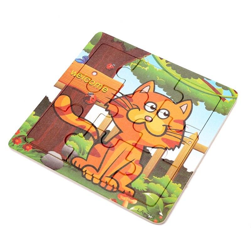 Милый мультфильм детские головоломки деревянные небольшой кусок детские игрушки 3D деревянные головоломки Развивающие Игрушечные лошадки ...