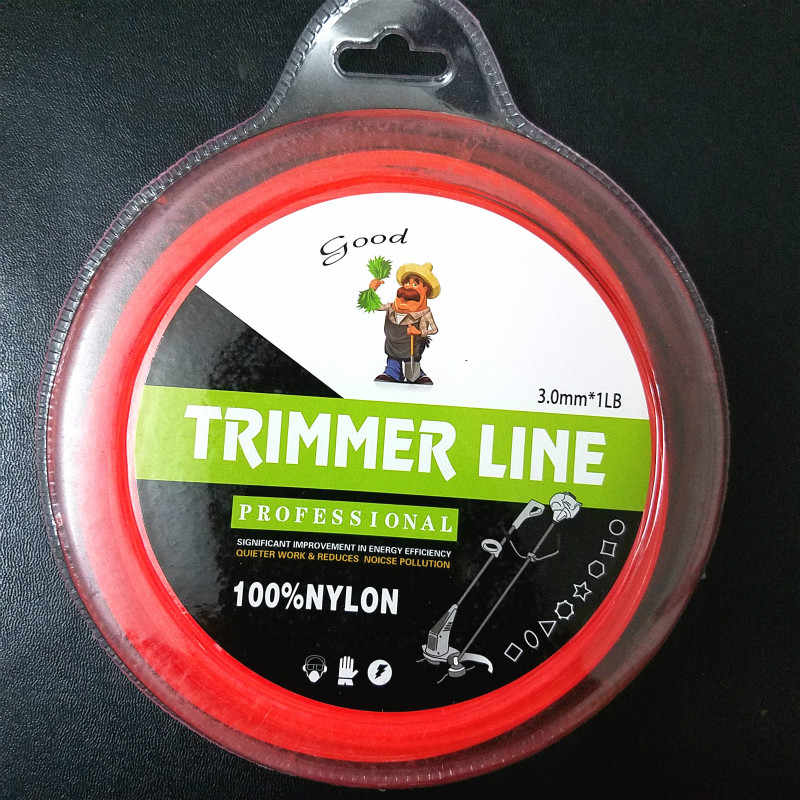 2.4mm/3mm X 1LB tonte ligne en Nylon rond/carré débroussailleuse coupe-fil coupe gazon tête longue rouleau fil de tonte