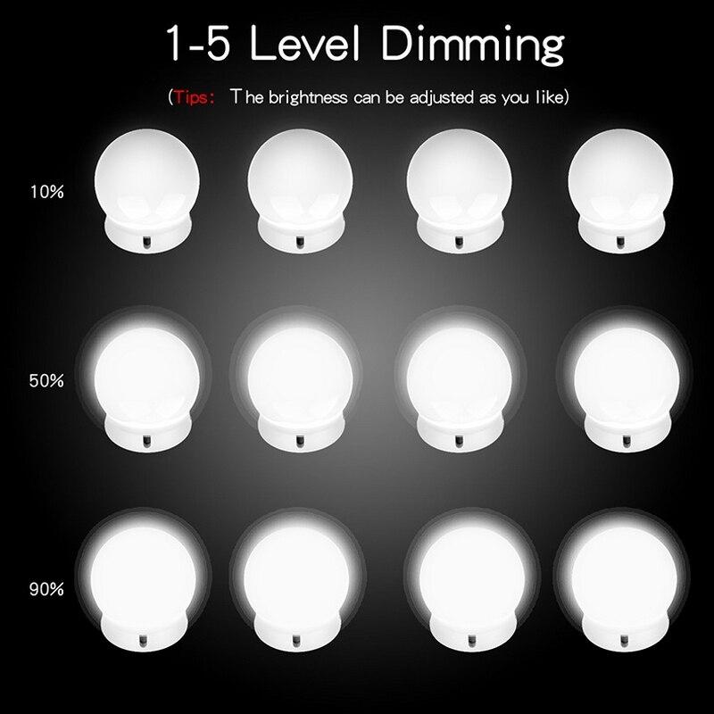 Lights & Lighting 10 Bulbs Vanity Makeup Mirror Light Led Vanity Mirror Lamp 110v 220v Cosmetic Bulb Adjustable Make Up Mirrors Brightness Lights