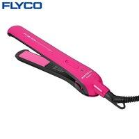 Flyco Profesional Styling Curling Hierro perm plancha de pelo de cerámica mini férula eléctrica rollo recta de doble tracción FH6811