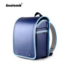 b0248fabc68b Coulomb малыш ортопедический рюкзак для маленьких мальчиков школьные ранцы  Японии PU Randoseru портфель мальчиков Kinderrucksack(