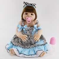 23 дюймов 57 см реборн силиконовая Младенцы малышей куклы lol Оригинальная кукла куклы подарок на день рождения раннего образования детей кукл...