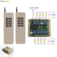 Sleeplion 300M 8Channel 220V Switch RF Wireless Remote Controller LED Light Lamp Fan 110V 220V 8CH Switch Accessories
