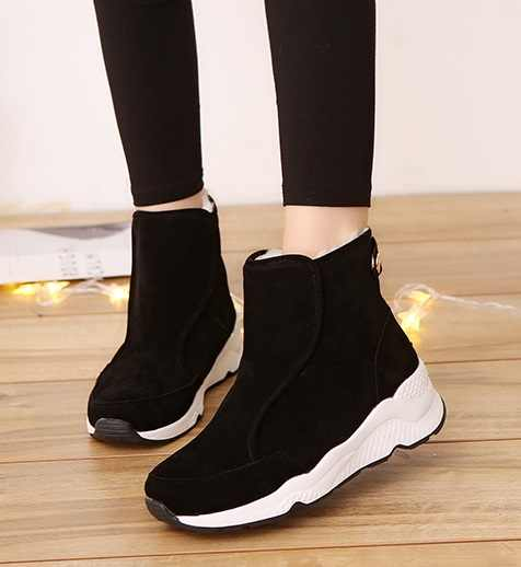 2019Winter Ankle Short Women Boots Flat Heel Lace-Up Single Boots Green Shoes Push Warm Flat Shoes Ladies Large Size