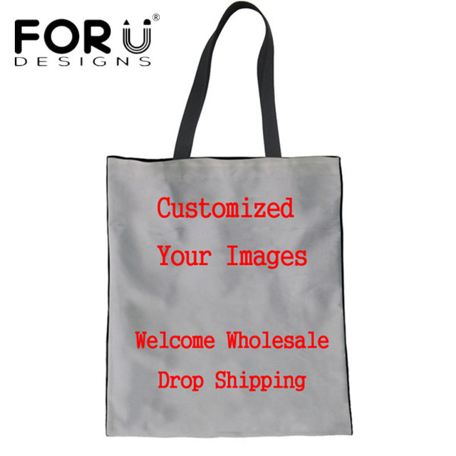 FORUDESIGNS Personality Customize Women Totes Handbags Female Environmental  Protection Shopping Bags School Girls Cloth Bags 75492cc815246