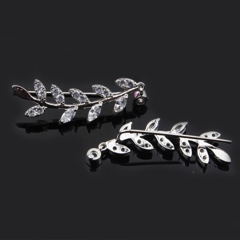 Hot Selling Fashion Ear Crawler New Summer Style Rhinestone Leaves Ear clip Ear Stud Ear Ring For Women Gift Body Jewelry