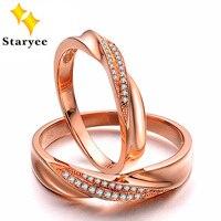 Его и ее обручальные кольца пара 18 К реальных твердых белого золота Обручение пары колец установить 0.15ct SI H Бесплатная доставка