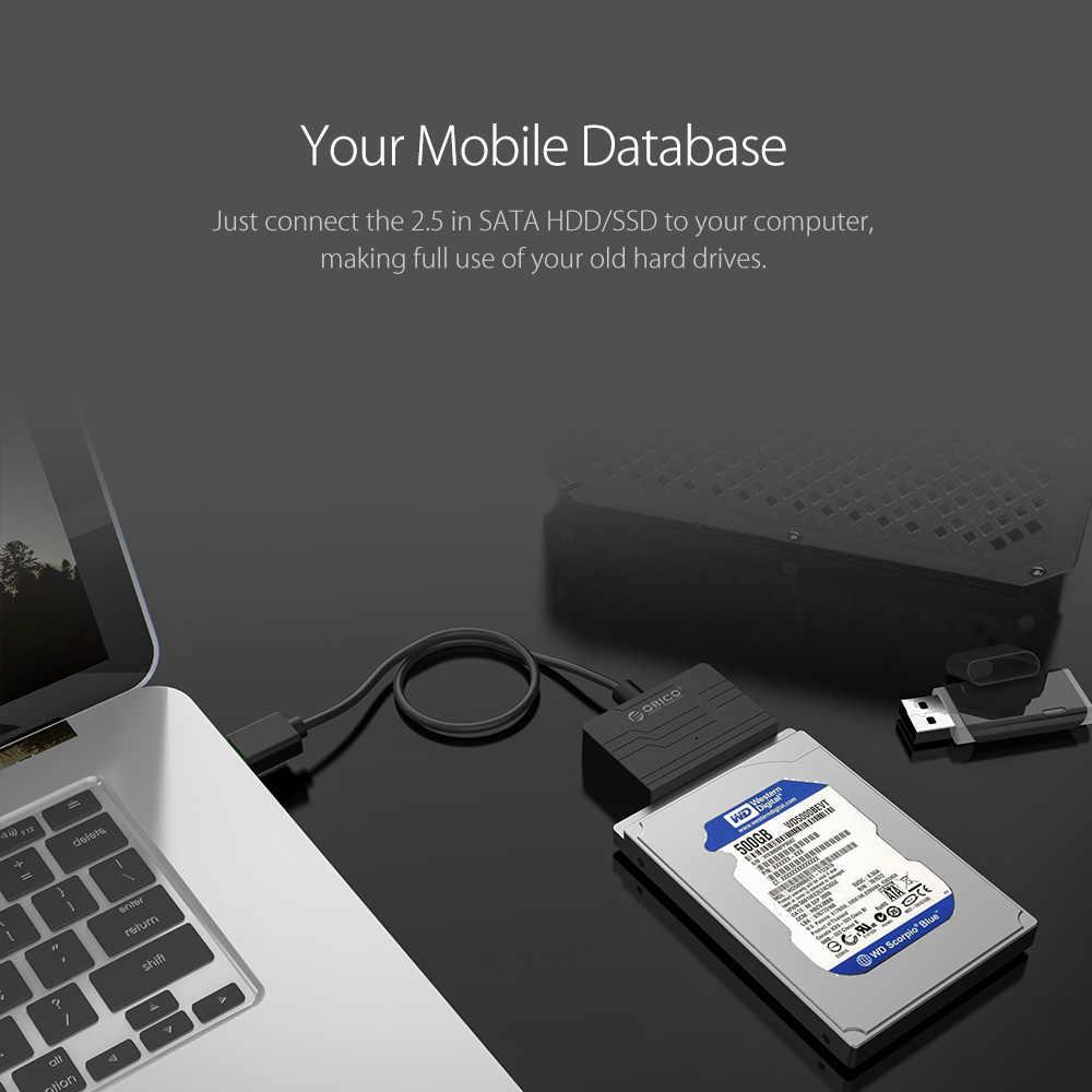 ORICO 2.5 Trình Điều Khiển Đĩa Cứng Cáp Chuyển Đổi Siêu Tốc Độ USB 3.0 Sang SATA 22 Pin (27UTS-BK) HDD Dock Station cho Ổ CỨNG WD