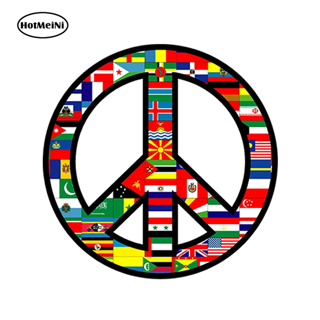 Hotmeini 13x 13cm Car Styling World Peace Sign Symbol Decal Car