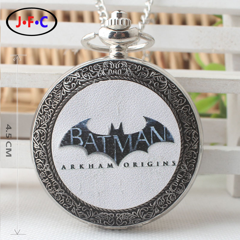 Europe and America Batman quartz pocket Watch Senior high school student Fashion trend Chain table DS270 european and american movies aladdin and the magic lamp quartz pocket watch do the old flip quartz watch chain table ds274
