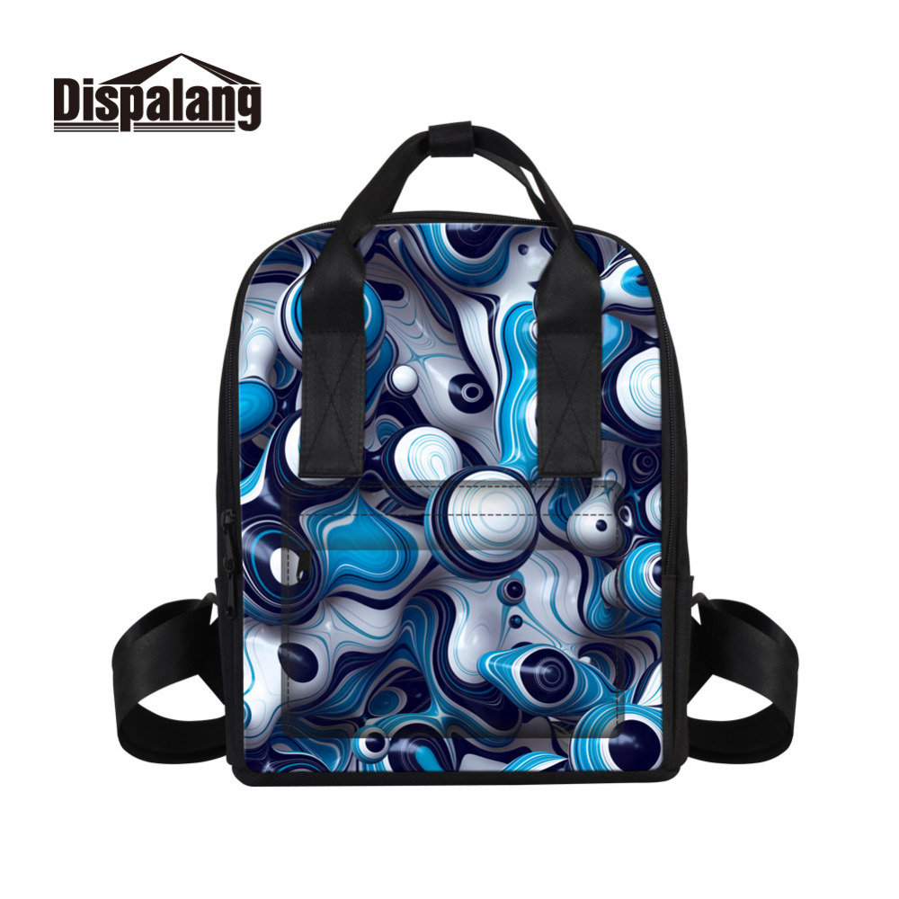 Dispalang Fashion Design Women Backpack 3D Sphere Print Female Backpacks Girls School Bag For Student Laptop Shoulder Travel Bag dispalang creative stars print kids schoolbag felt laptop backpack for men women school bag for children galaxy student rucksack