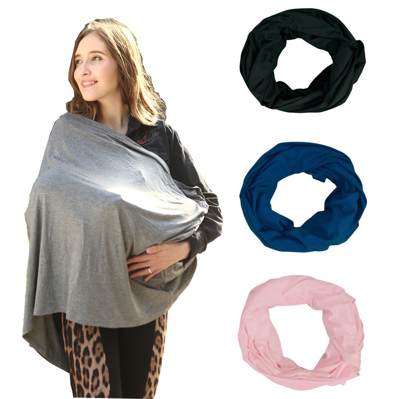 Nursing Breastfeeding Cover Scarf-Baby Car Seat Canopy Carseat Covers for Girls and Boys-Best Multi-Use Infinity Stretchy shawl
