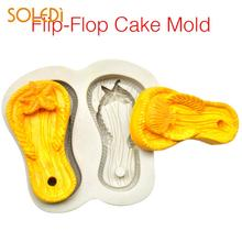 c0d5f352aa8b0e Flip Flops Shape Silicone Cake Mold Paste Decorating Tool Dessert Party  Supplies Handmade Creative Silicone Cake