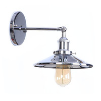 Retro Loft Mirror Surface Iron Wall Sconce Edison Industrial Vintage Wall Light Fixtures Adjust Bedside Wall Lamp LED Lampara