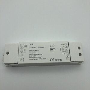 Image 2 - Controlador remoto RF inalámbrico RGBW/RGB/CCT/Dimming + 2,4 GHz, controlador RF de 4 canales para LED RGB/RGBW, tira de luz LED RGB + CCT V5