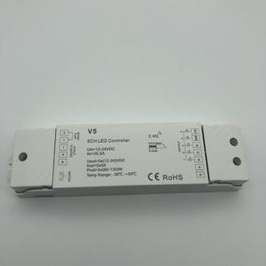 Image 2 - Rgbw/rgb/cct/디밍 + 2.4 ghz 무선 rf 원격 컨트롤러 4 채널 led rf 컨트롤러 rgb/rgbw led 스트립 빛 rgb + cct v5